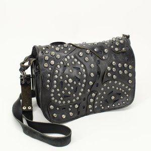 Patricia Nash Studded Leather Rosa Saddlebag Purse